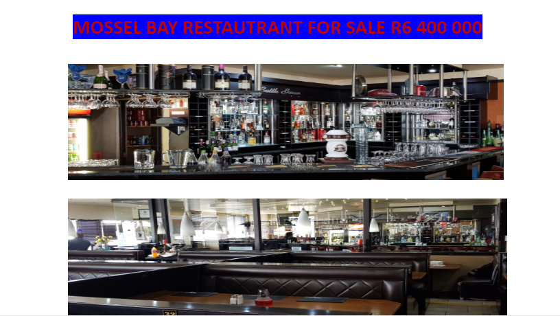 Two Reataurants For Sale in Geoge and in Mossel Bay