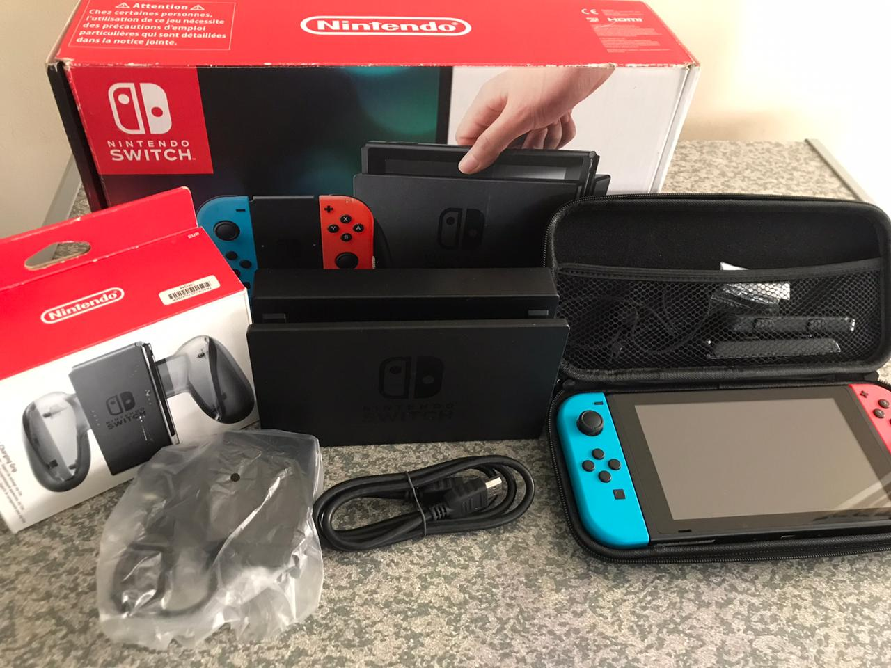 Nintendo switch brand new Neon And Red used a few times console brand new