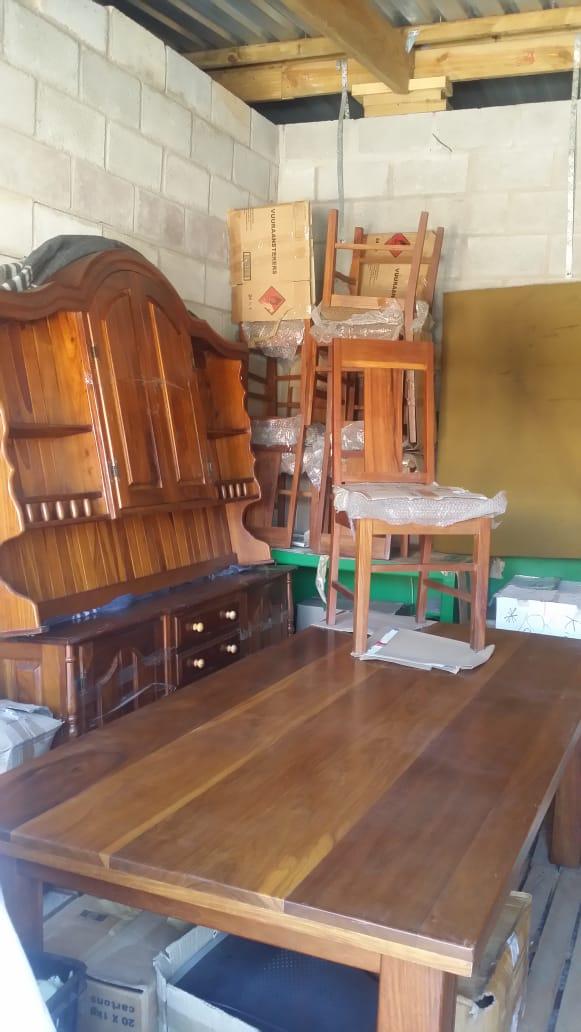 Kiaat Dining room table  and Kiaat Buffet