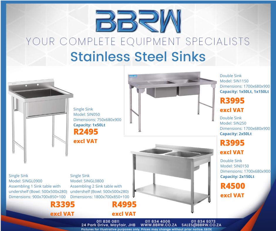 BBRW SPECIAL - S/Steel Sinks