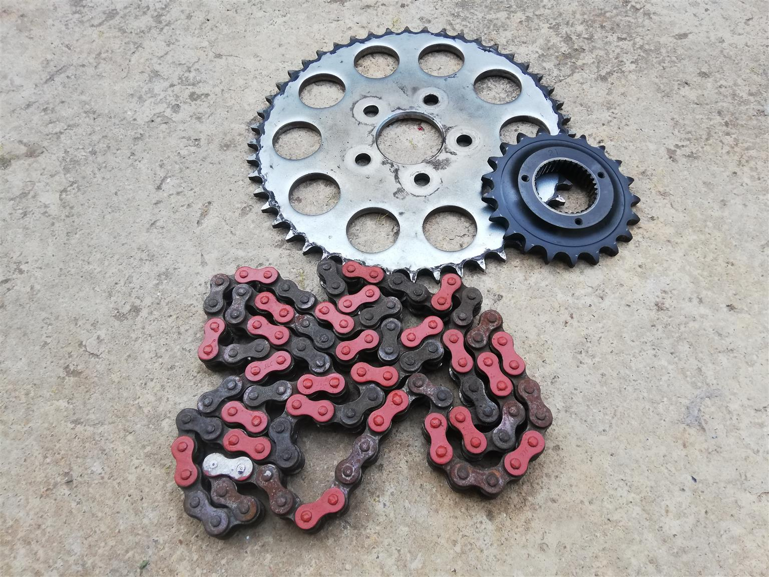 Harley Davidson Sportster chain and sprocket spare parts