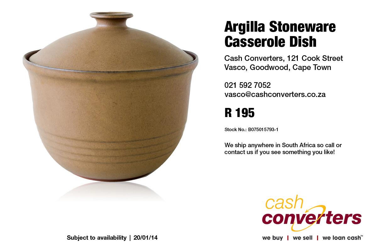 Argilla Stoneware Casserole Dish