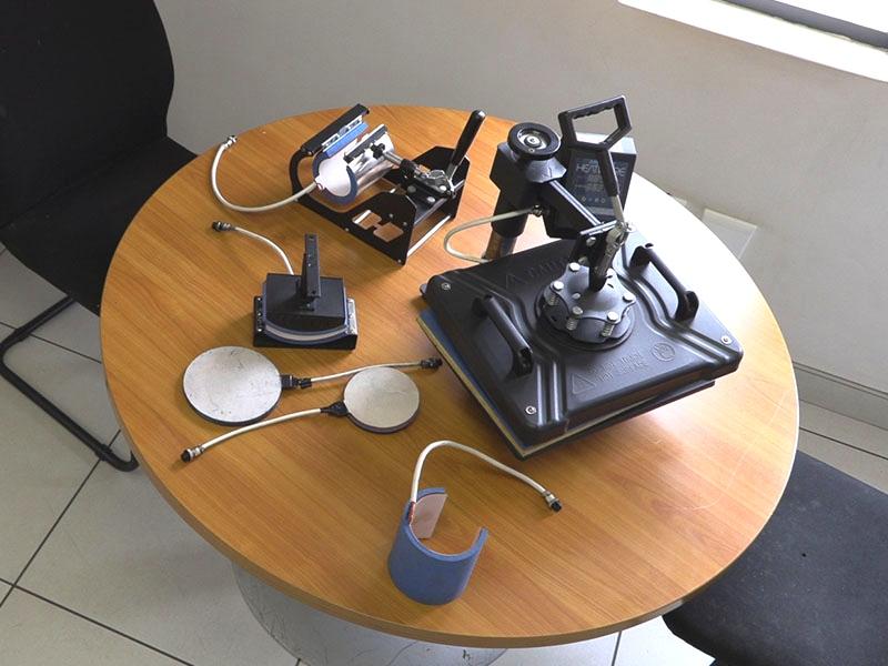 H-PRESS/PEN Heatware Sublimation Pen Press Heat Press Machine, 6 Pen Placement Slots for