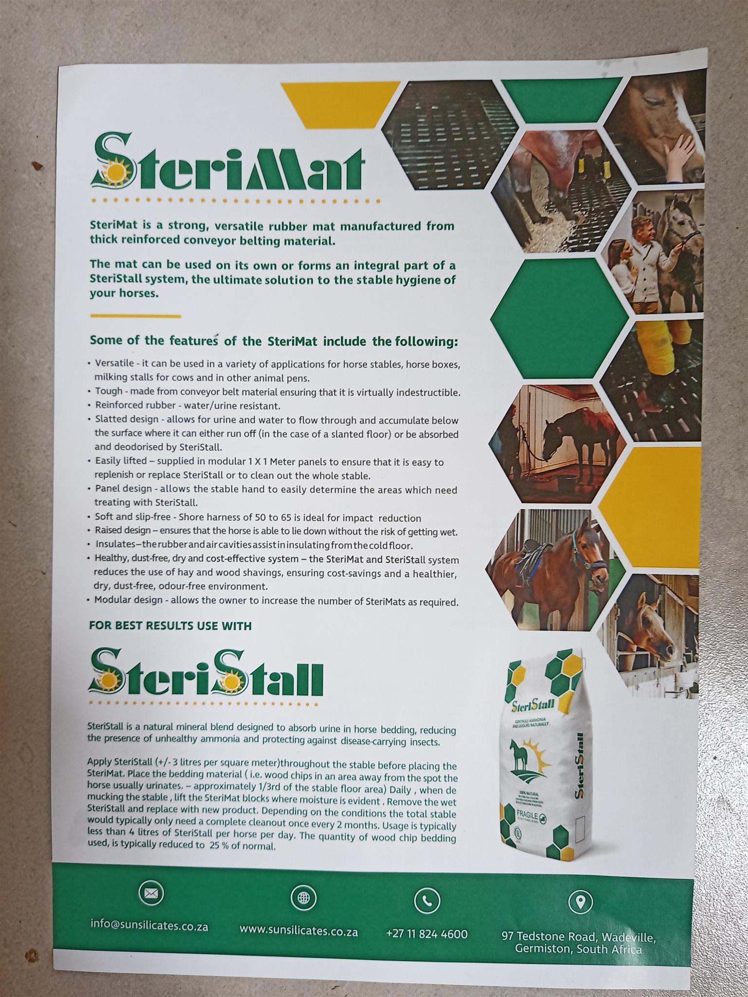 SteriStall & SteriMatt for horses bedding