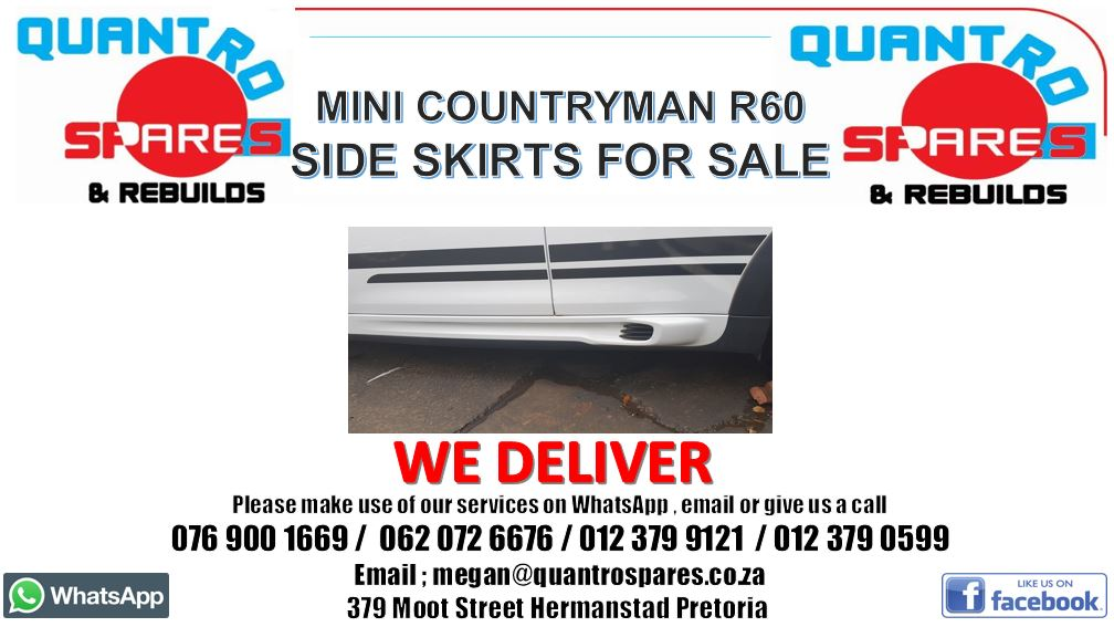 Mini Countryman R60 Cooper S side skirts for sale