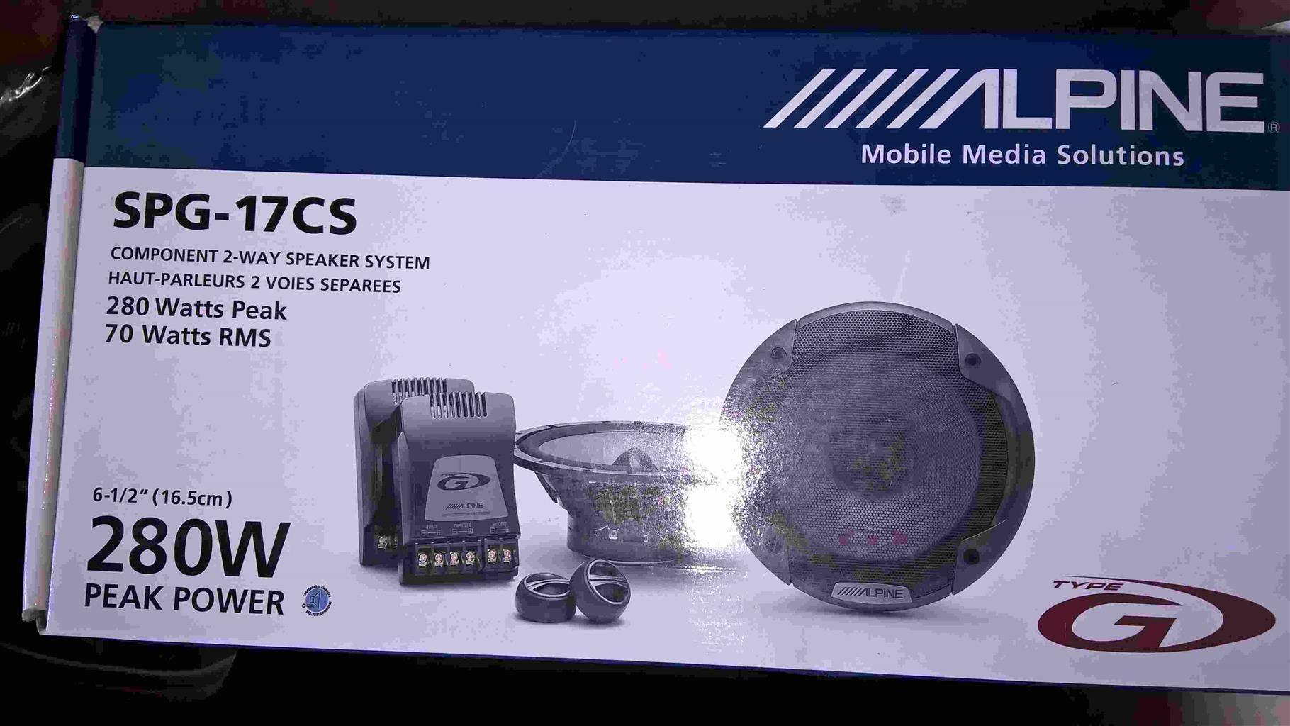 Alpine Car speakers
