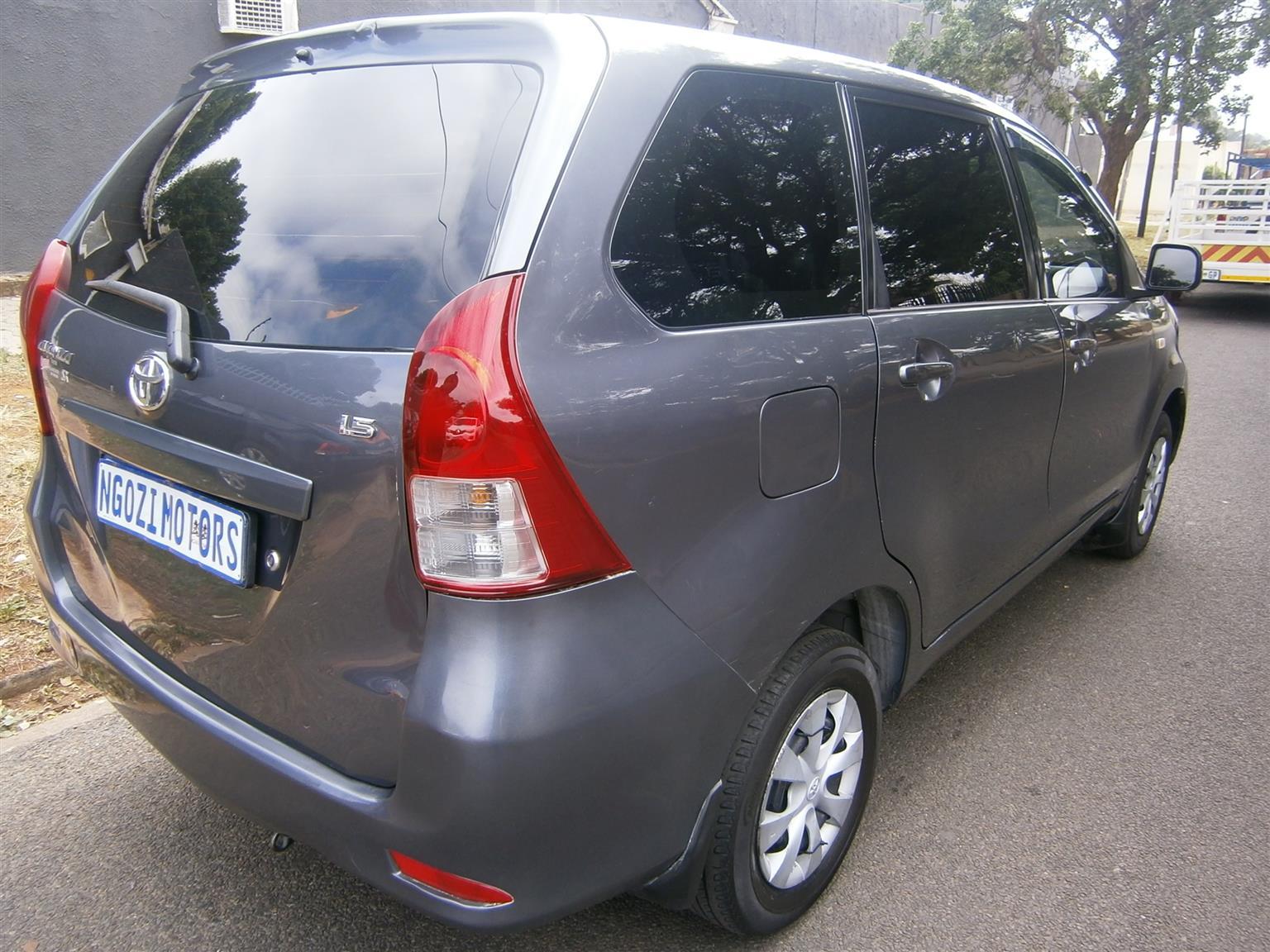 2014 Toyota Avanza 1.5 SX