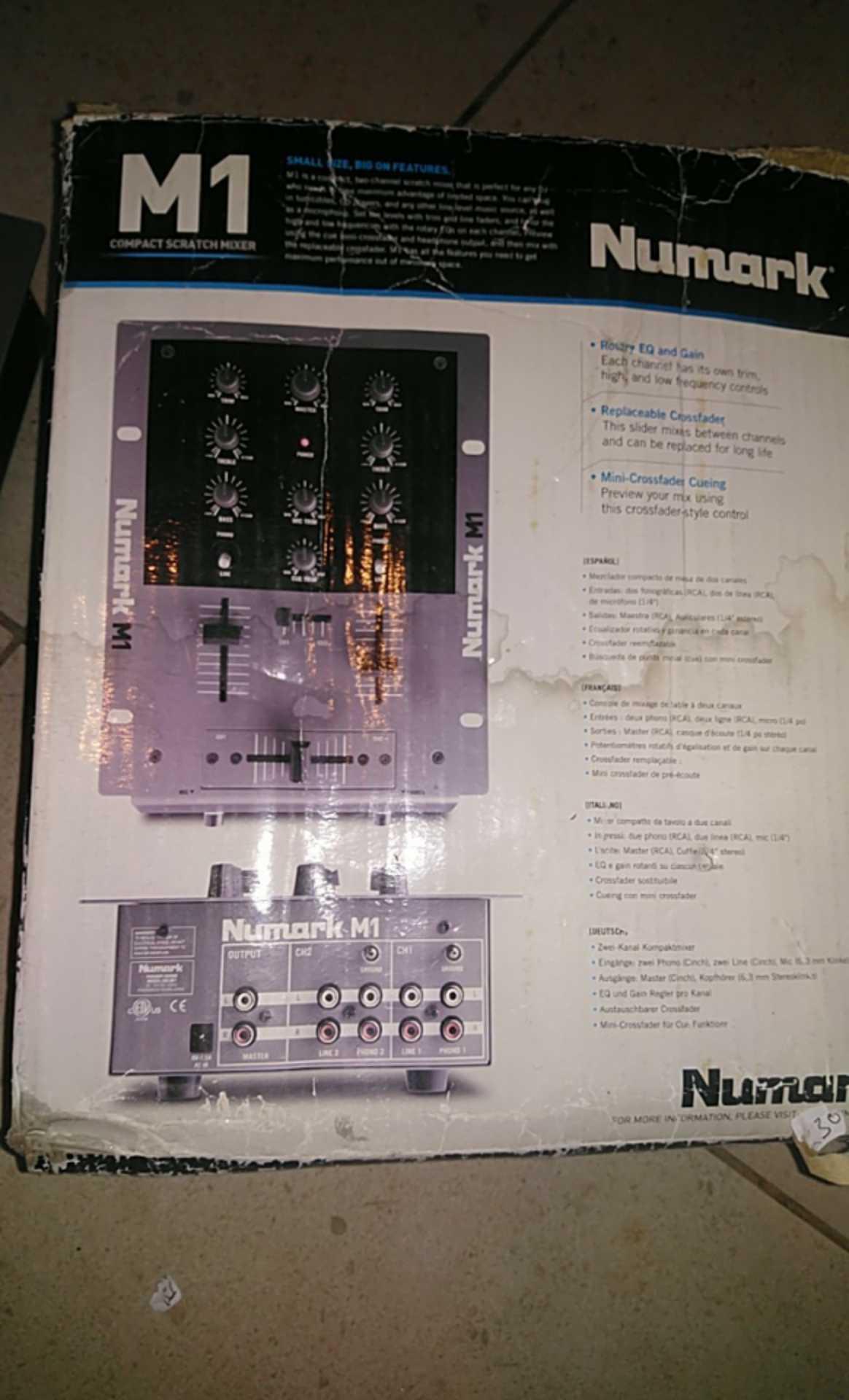 numark m1 2 channel mixer no power adaptern new junk mail. Black Bedroom Furniture Sets. Home Design Ideas