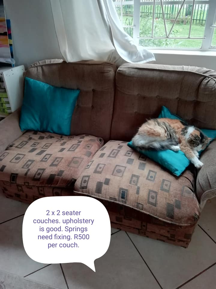 2 2 Seater couches for sale