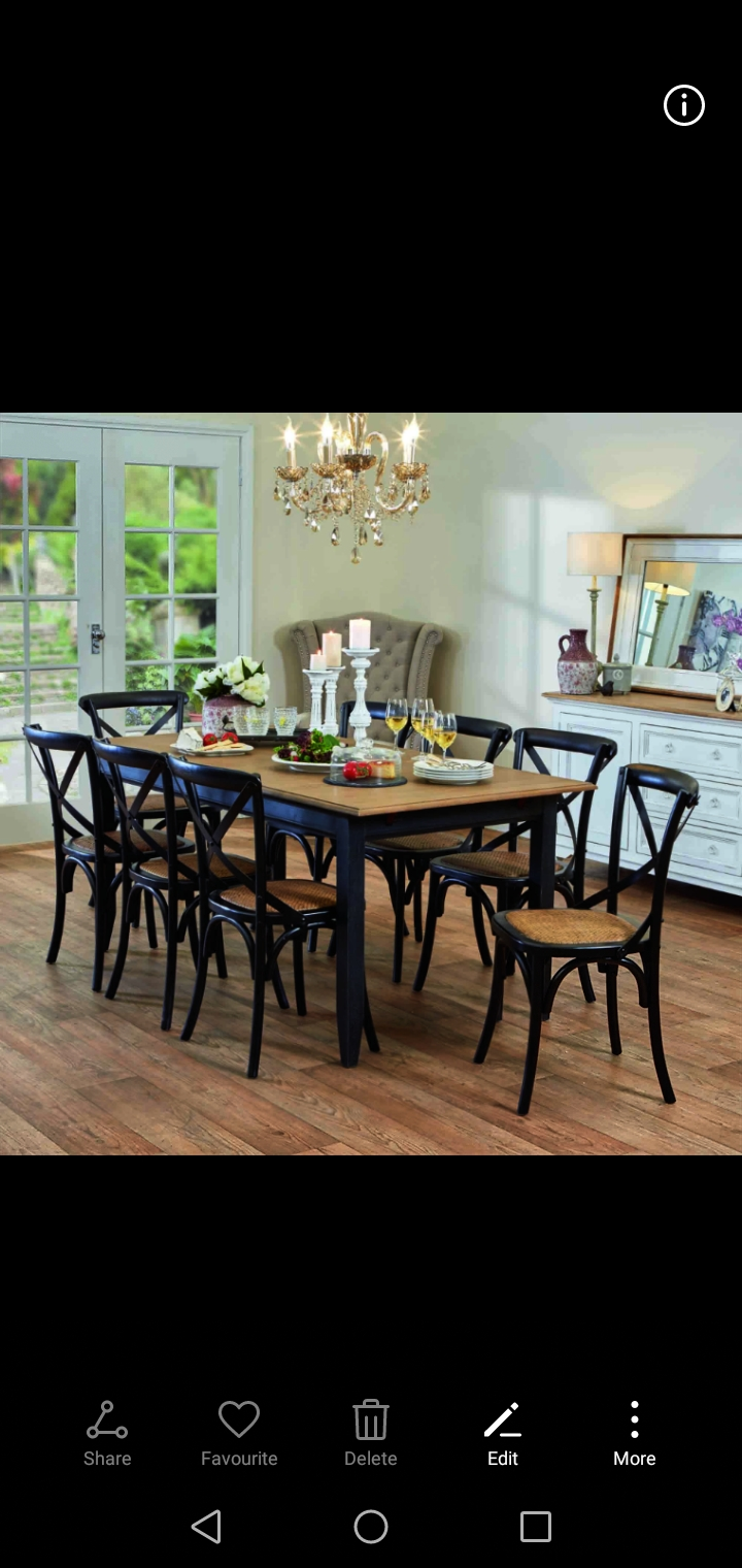 Solid wood dinning room tables and chairs