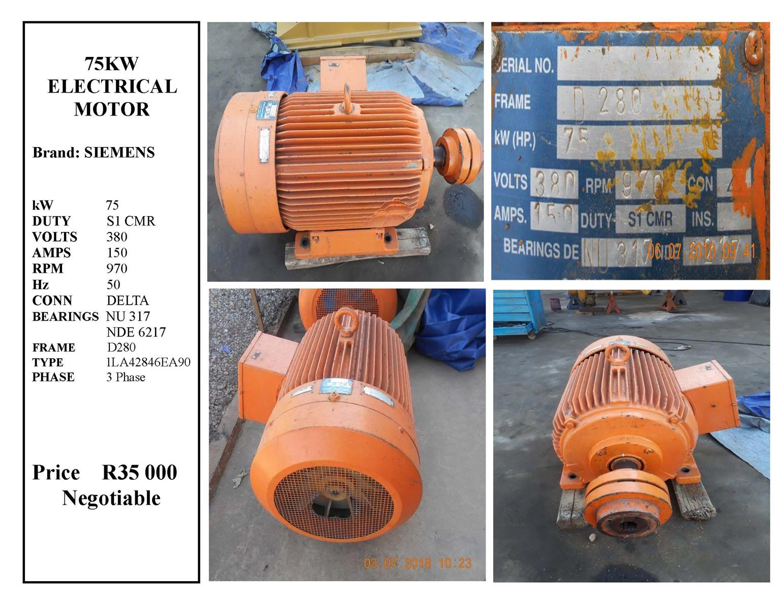 Electric Motor 75KW