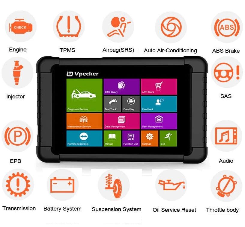 Auto diagnostic tool: Vpecker E1 OBD2 Car Scanner WiFi Professional Diagnostic Tool Full Systems