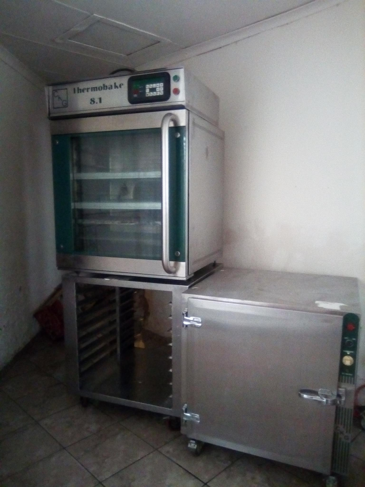 Thermobake 8.1 convection oven programmable, Proover and stainless steel tray