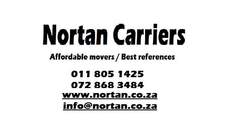 Nortan Carriers for moving in Midrand 0118051425
