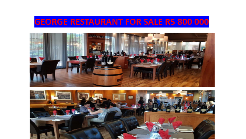 Two Restaurant for sale, in Mosselbay and in George