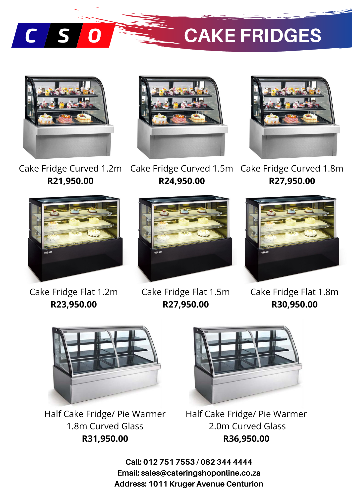 Cake Fridges direct from wholesaler