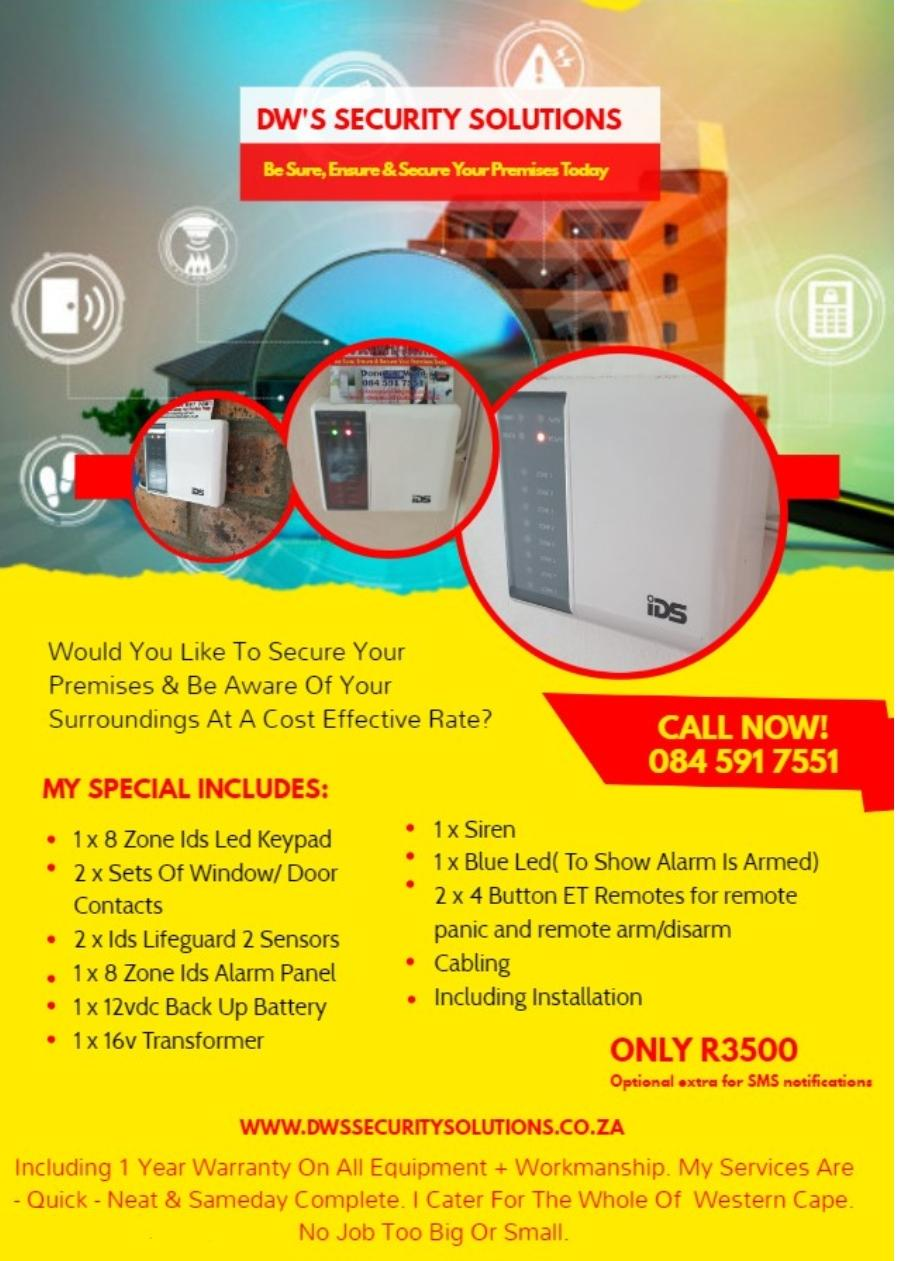 Ids 805,8 Zone Burglar Alarm Sytem & Installation