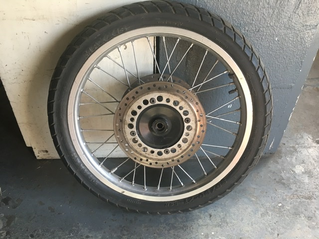 Honda XRV750 Africa Twin forks and front wheel