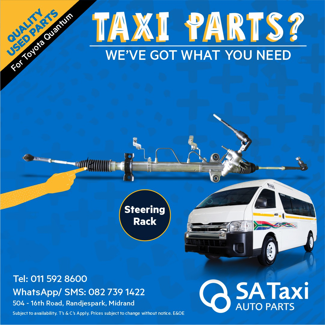 Steering Rack suitable for Toyota Quantum  - SA Taxi Auto Parts quality used spares