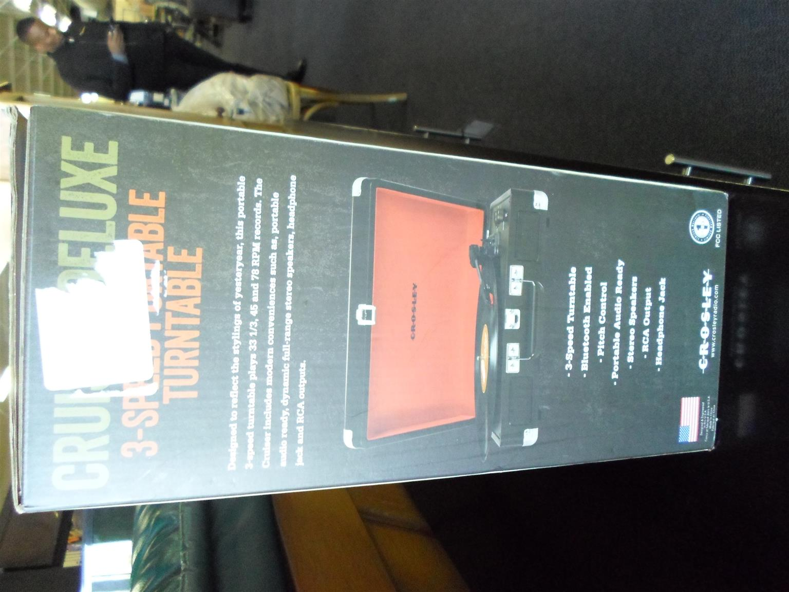 Crosley Cruiser Deluxe 3-Speed Portable Turntable