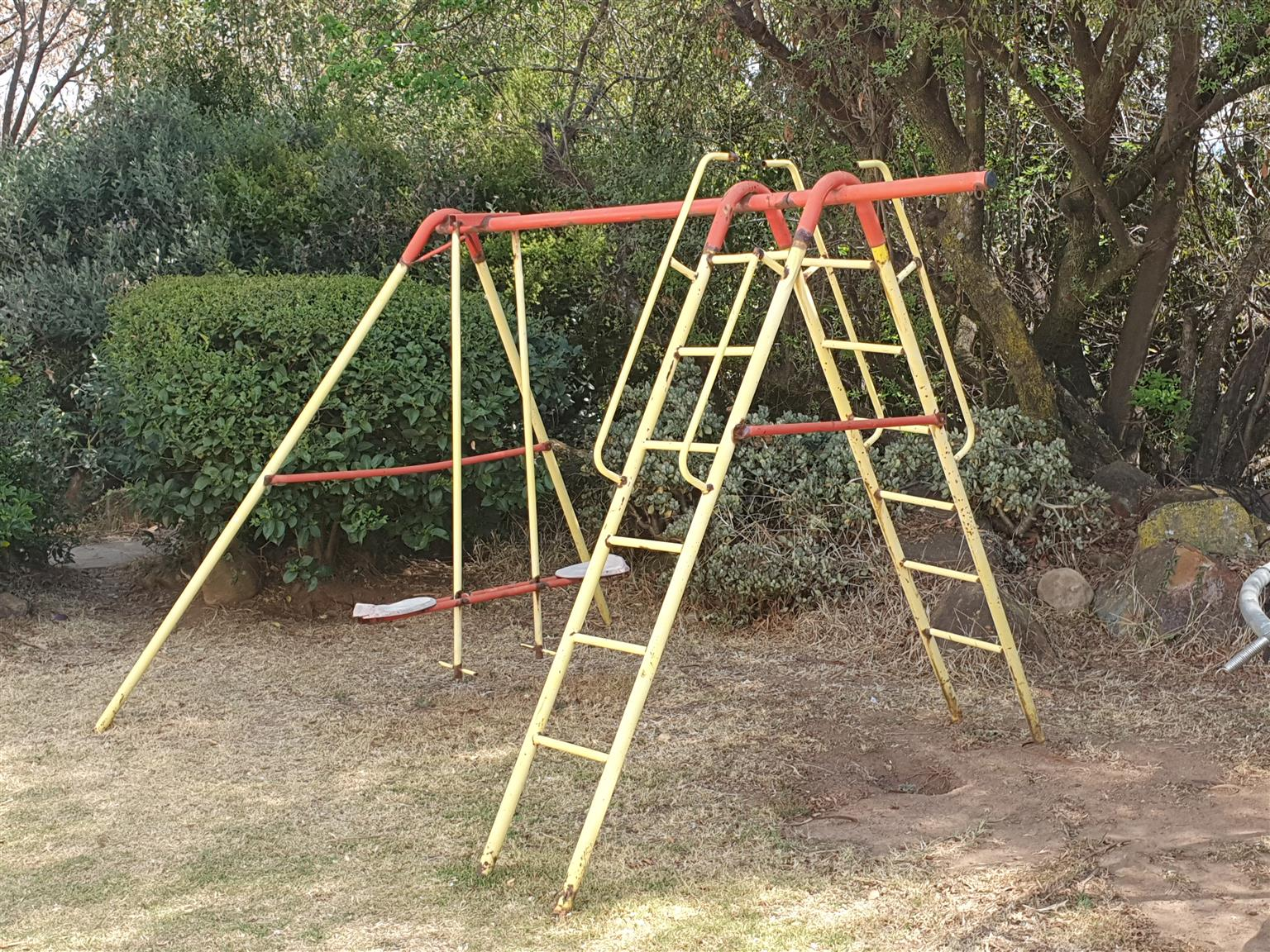 Kids Jungle Gym with seesaw, double ladder and monkey bar