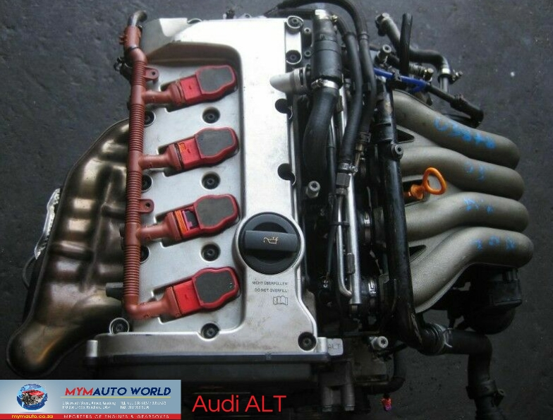 Complete imported used 01-03 AUDI A4/A6 2L 20V ALT engines for sale at MYM Autoworld,