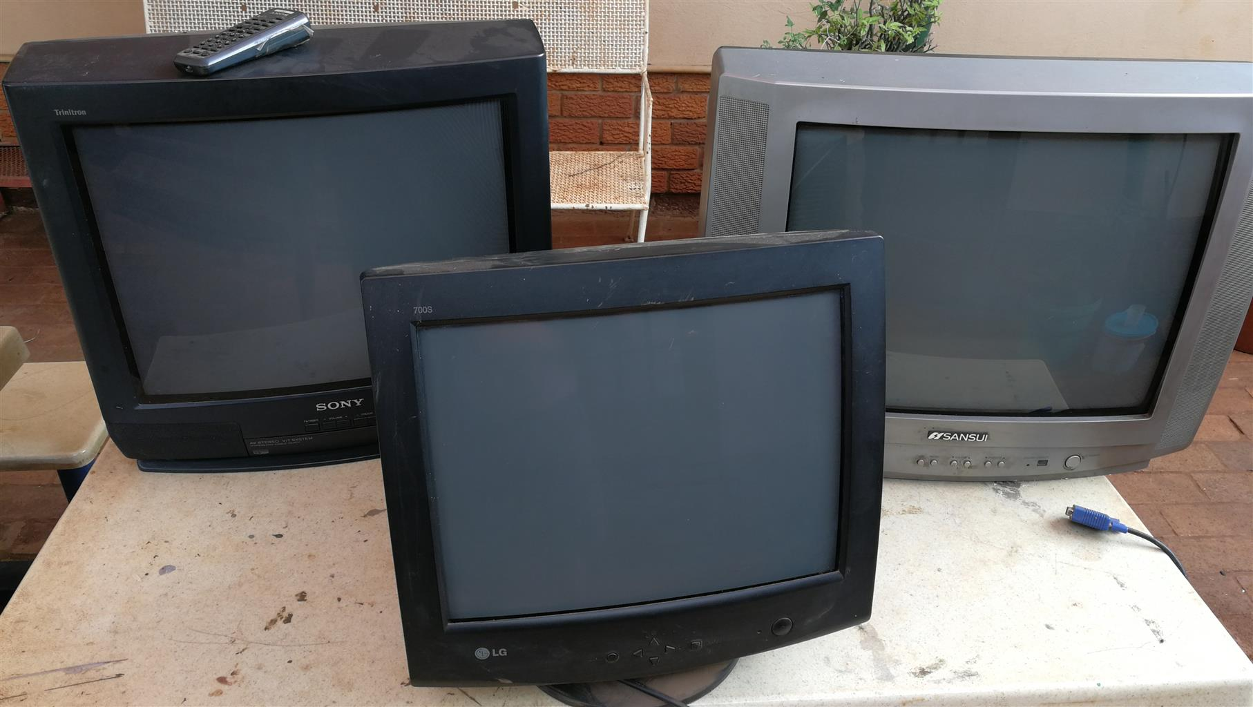CRT TV and Computer screen