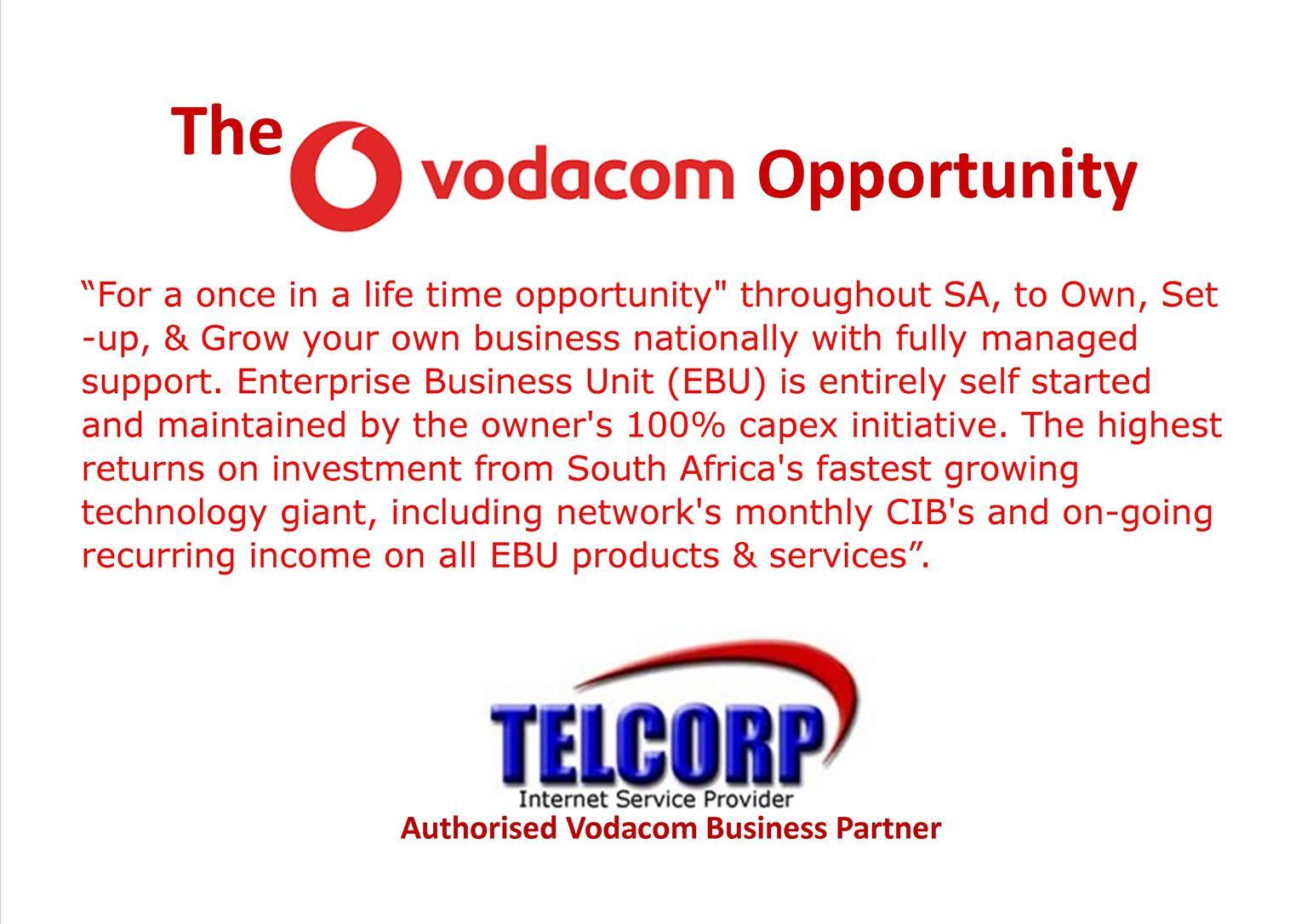 Vodacom Enterprise Business Unit Business Opportunity