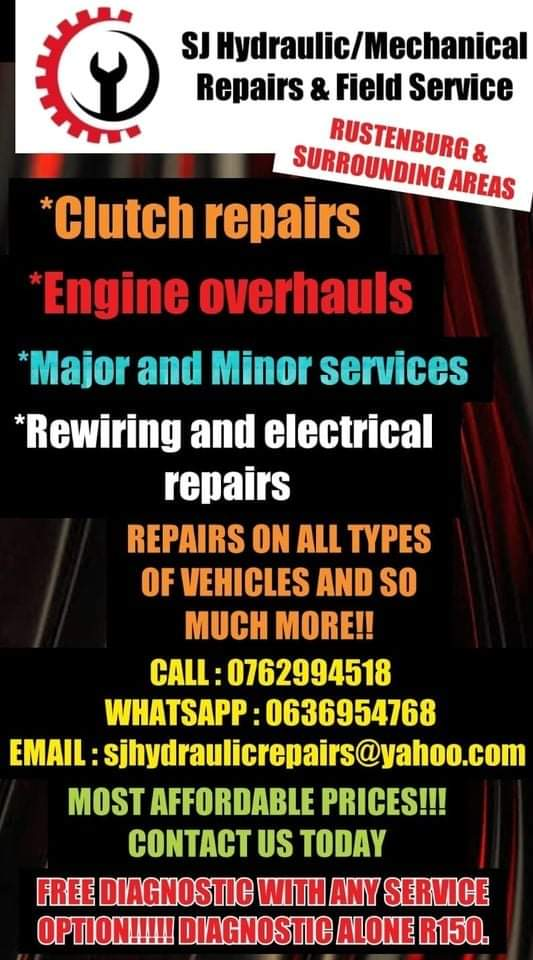 MECHANICAL REPAIRS & FIELD SERVICE