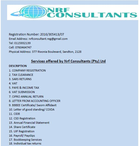 Financial And Company Registration Services