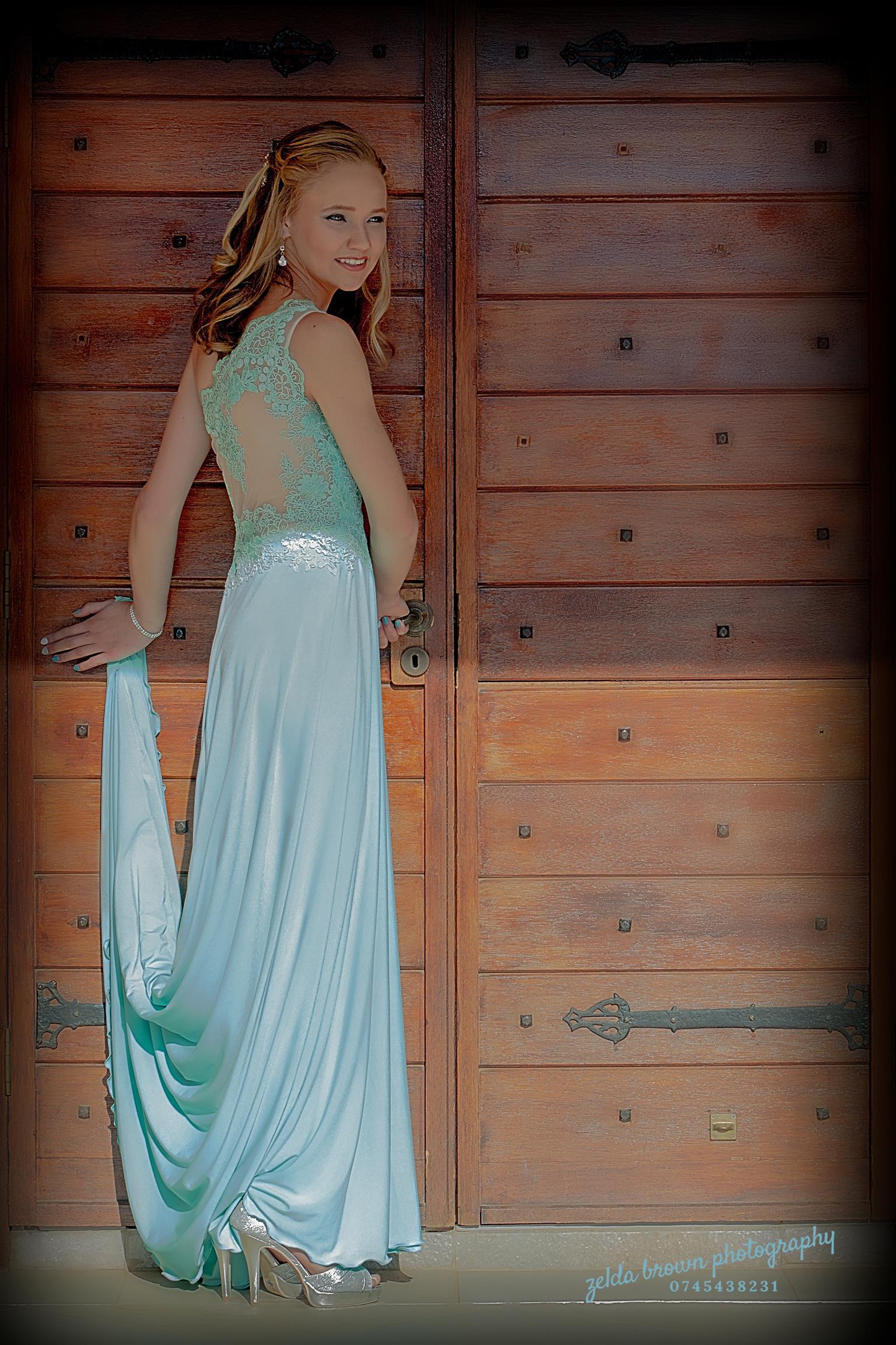 Elegant, formfitting, long mint green Matric Farewell dress
