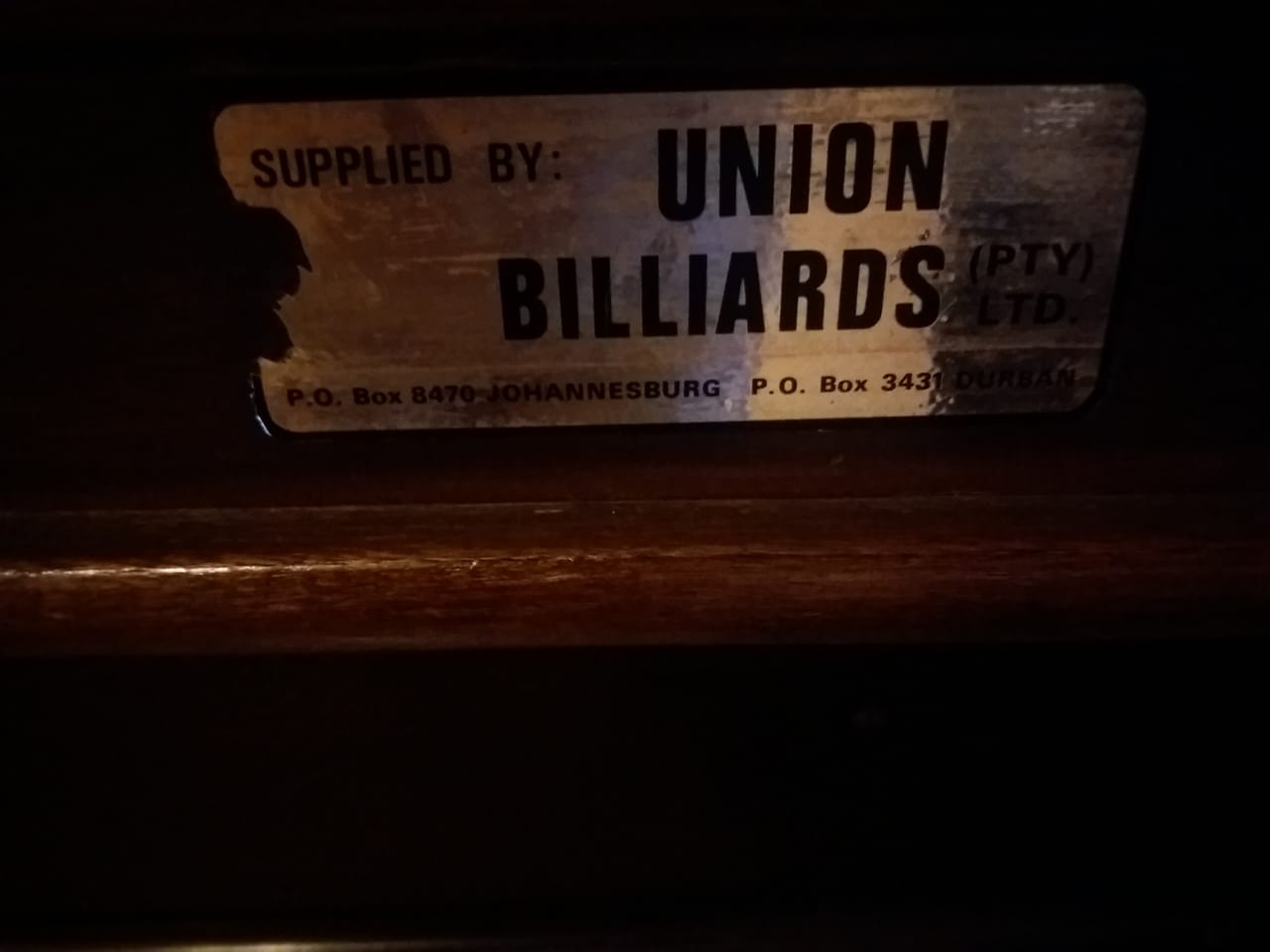 Union Billiards Full Size Snooker Table