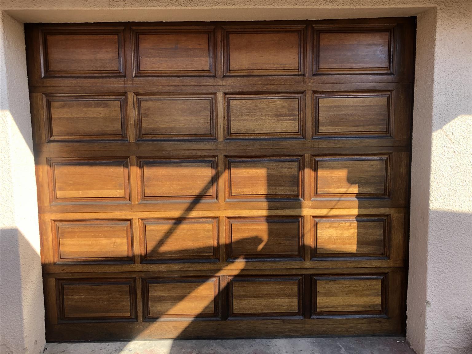 20 Panel Wooden Single Garage Door