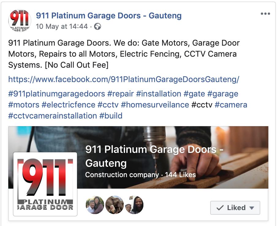 911PlatinumGarageDoors