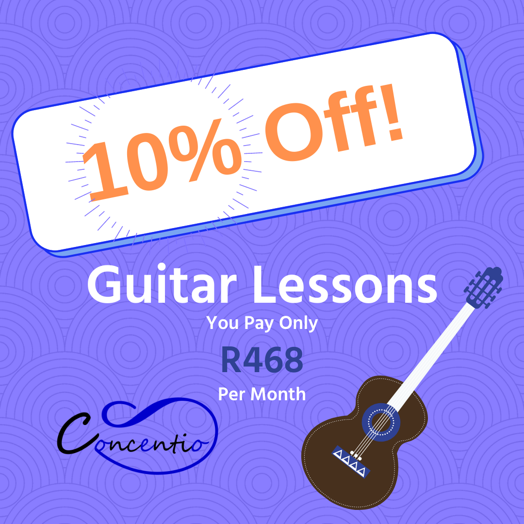 Lockdown discount at Concentio Music! Guitar Lessons!