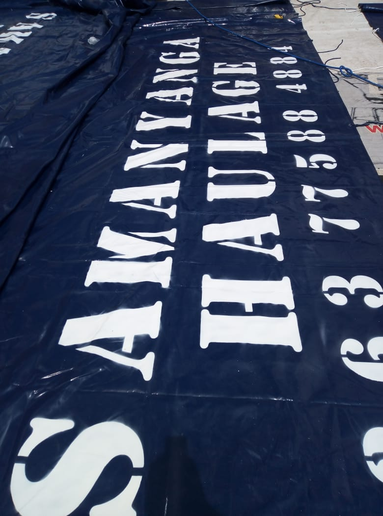 9M X 9M QUALITY (700GSM) PVC TRUCK COVERS/TARPAULINS AND CARGO NETS