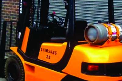 2.5ton Samsung lpgas reconditioned forklift