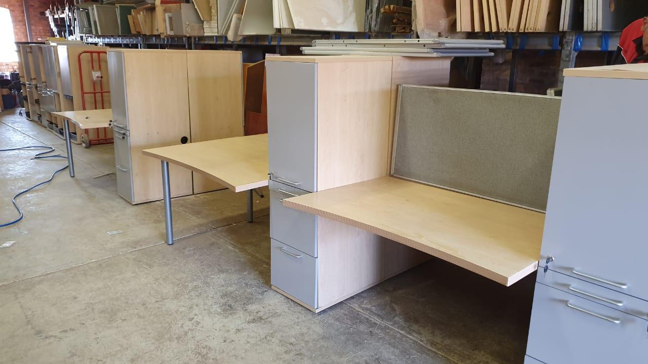4 Way cluster plus cabinet plus dividers