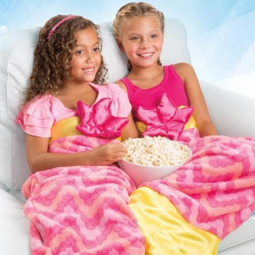 New Snuggie Tails Mermaid Blanket Pink One Size Fits Most – Super Soft Velveteen