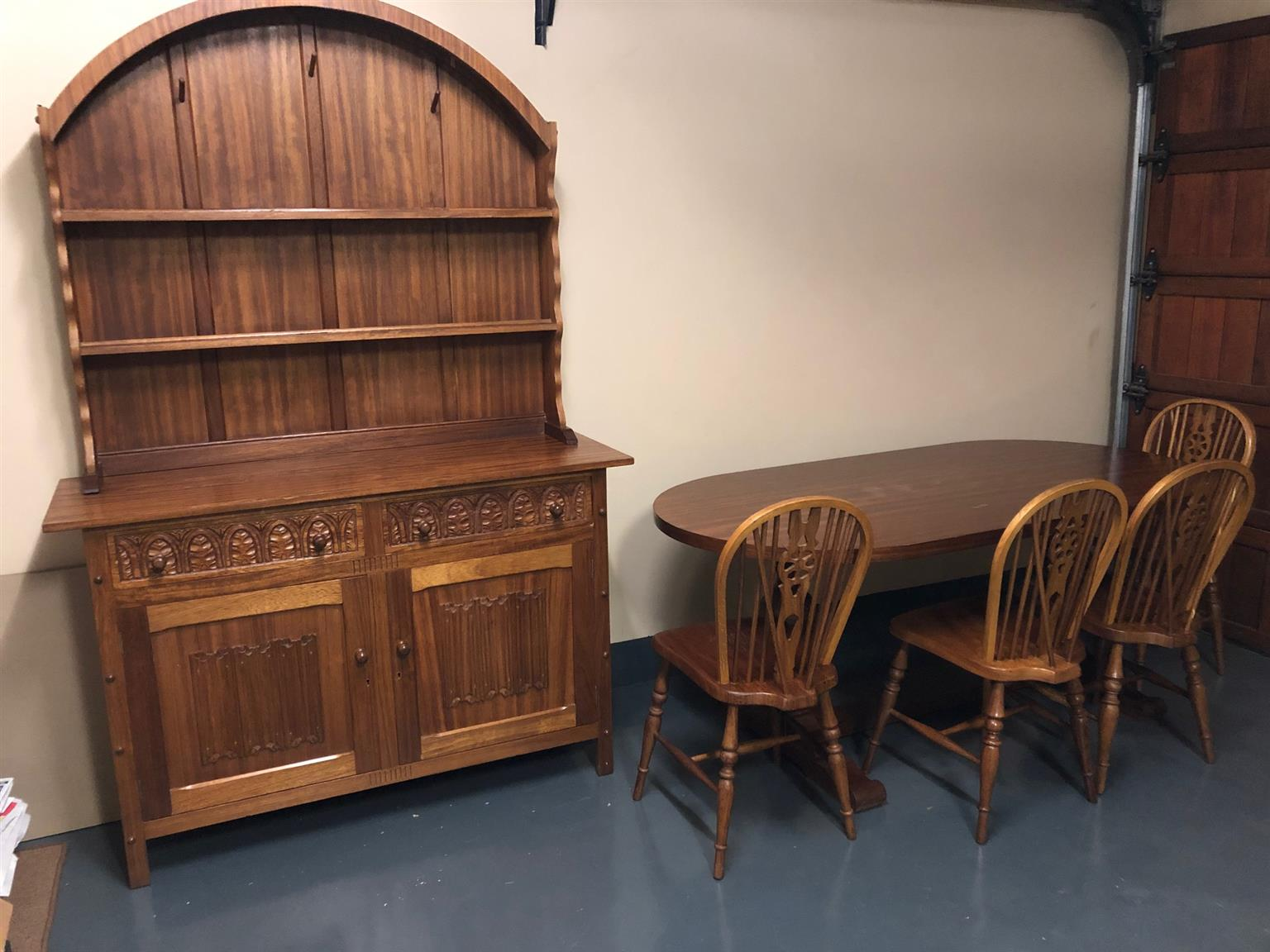 Solid Oak Dining Room Table And Server Buffet Junk Mail