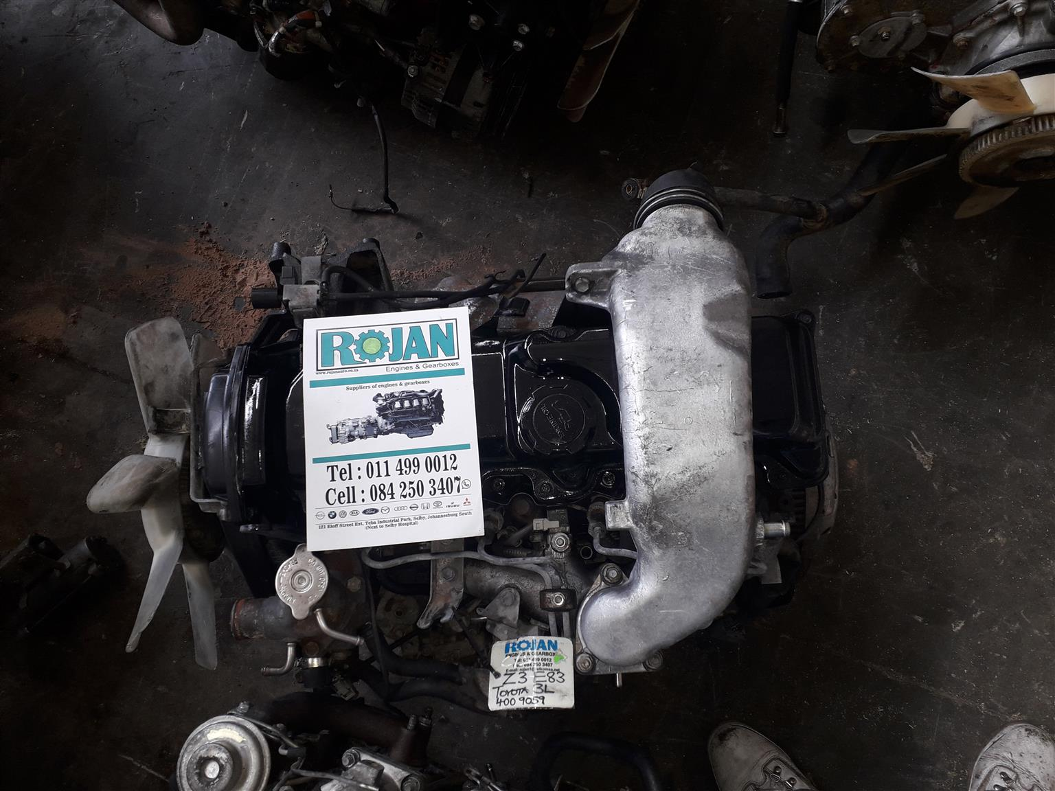 TOYOTA 3L COMPLETE ENGINE