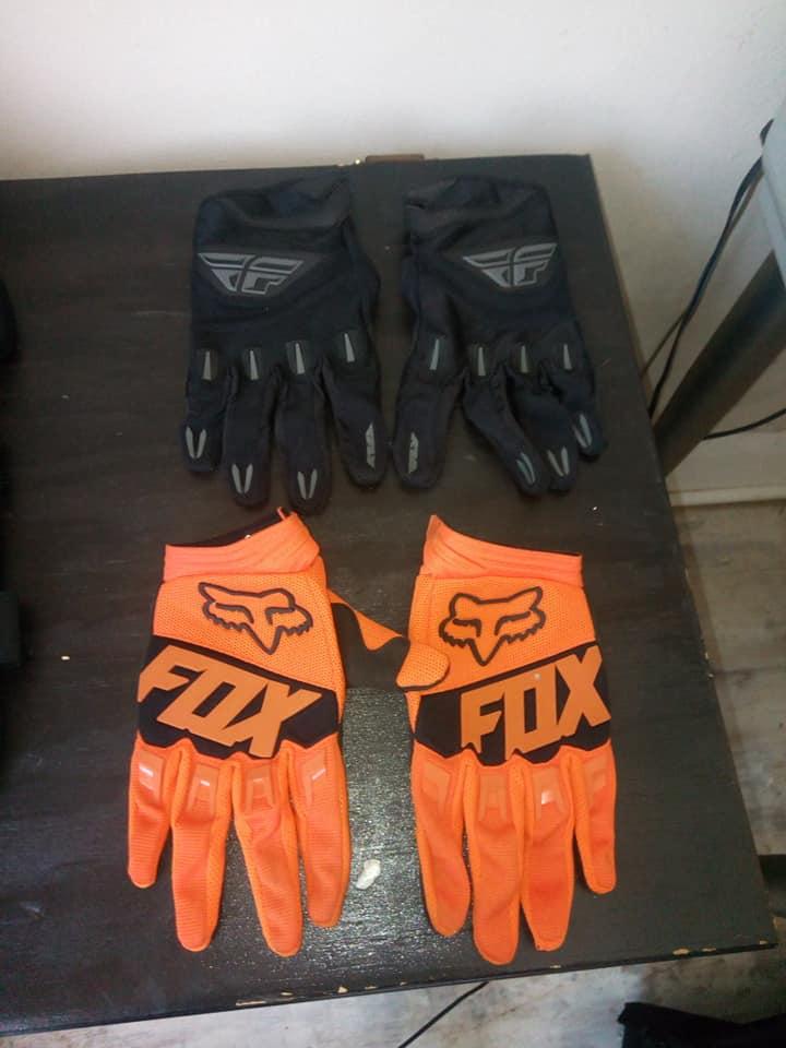 Orange and black fox gloves