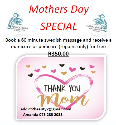 Mothers Day Specials (mobile or in house), Beauty Salon Services