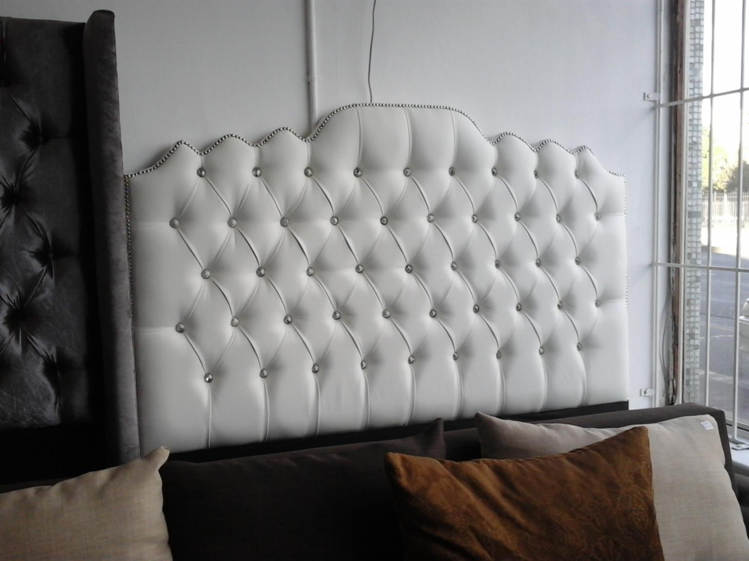 White queen headboard