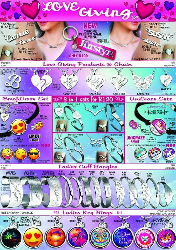 Stainless steel juwele ( geskenkie)