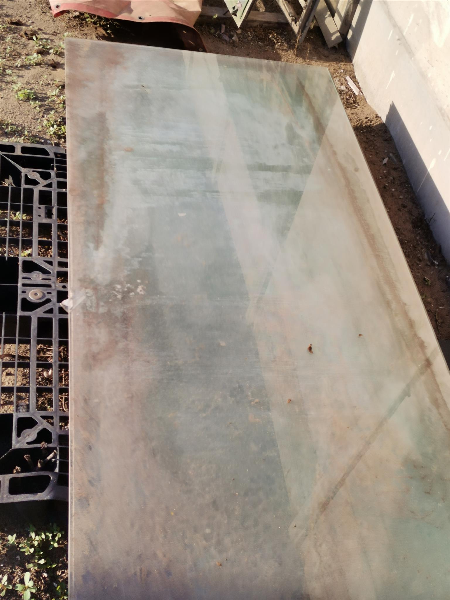 Sliding door glass new just full of dust