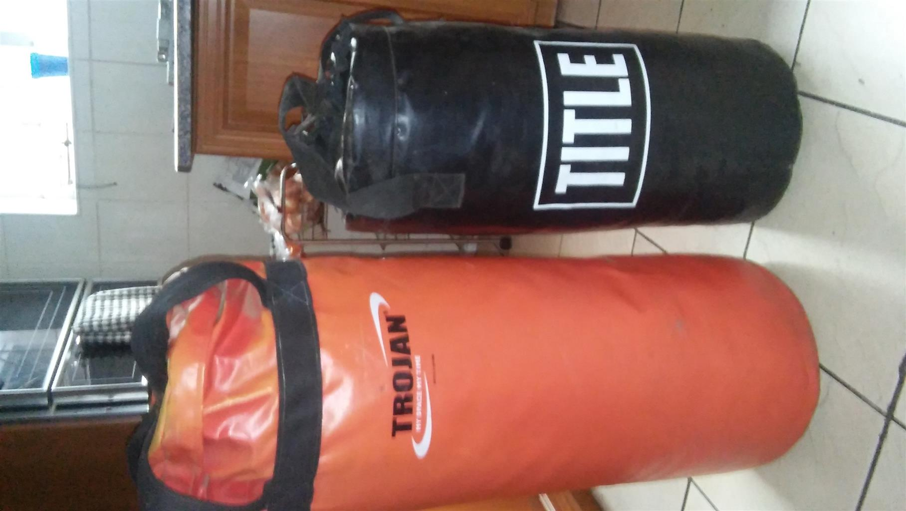 2 x Boxing bags.