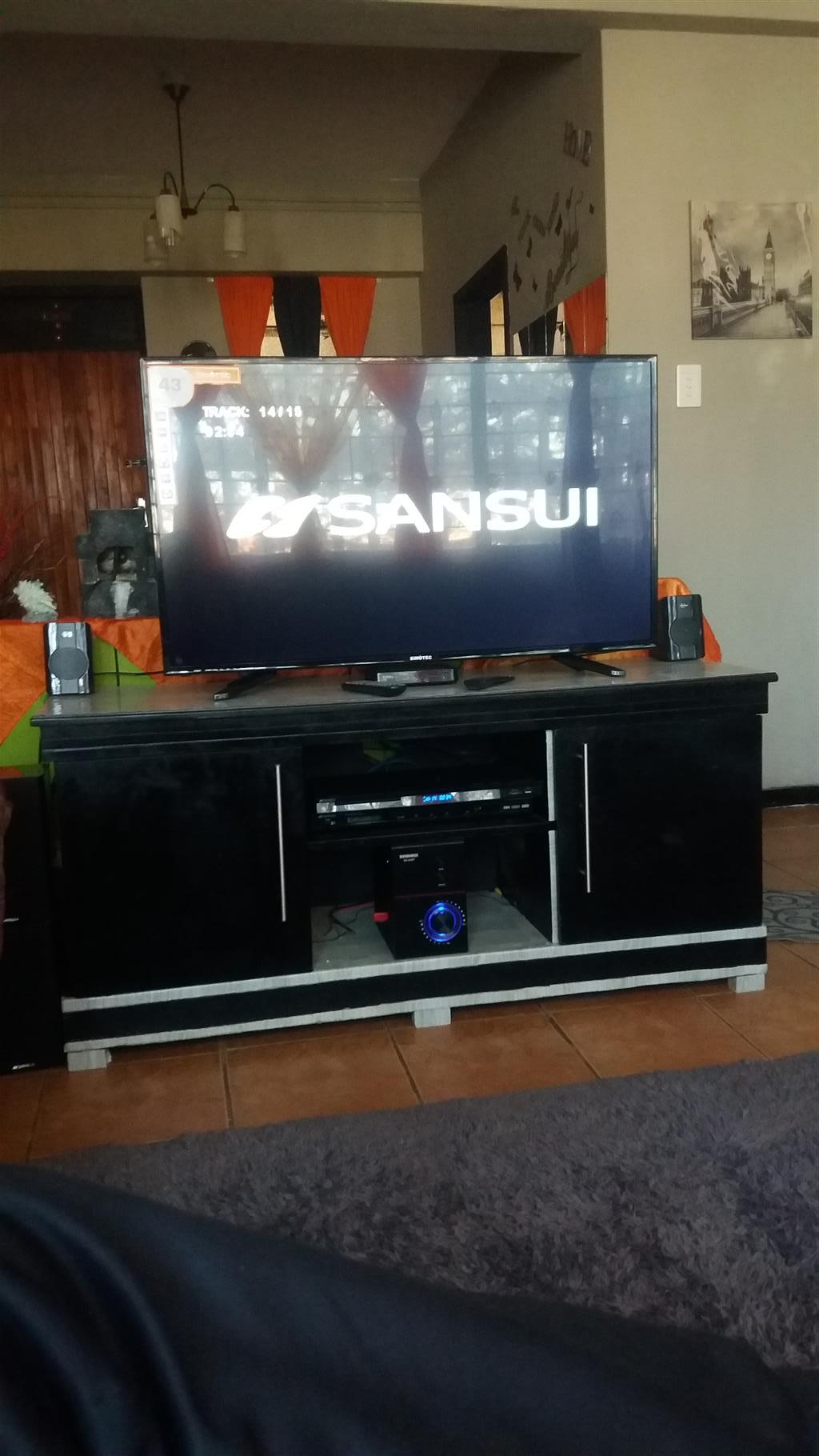 Brand new flat screen tv with the box