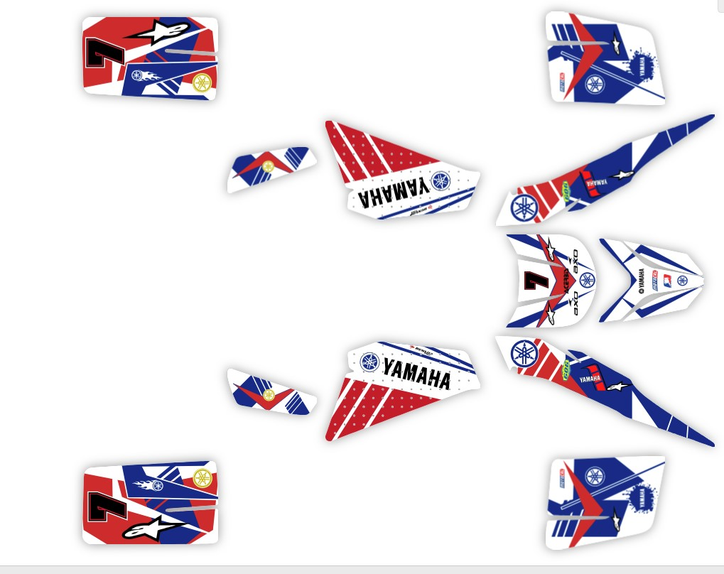 Custom yamaha blaster sticker kits junk mail