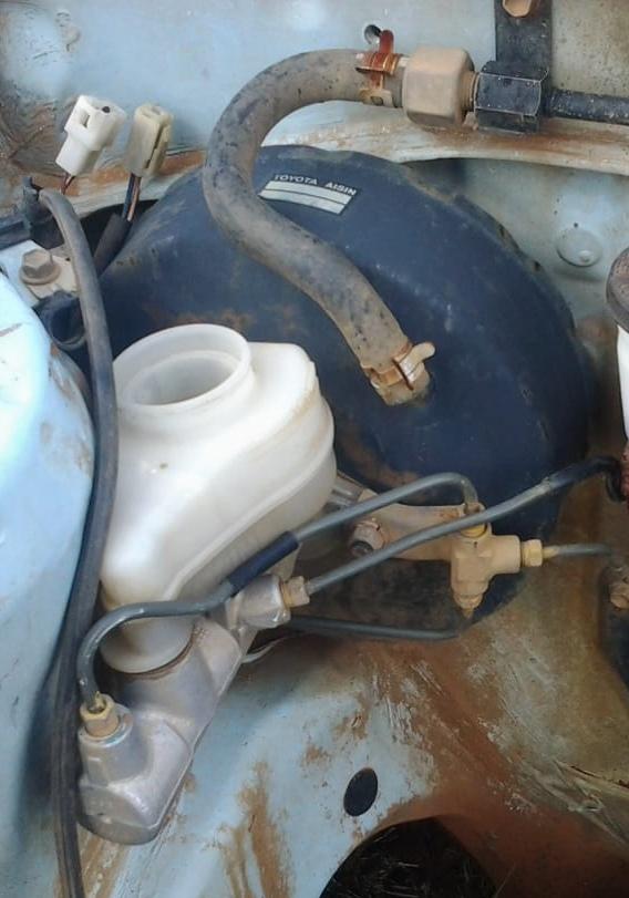 Toyota Corolla 130 Brake Booster, Brake Fluid Bottle & Brake Master